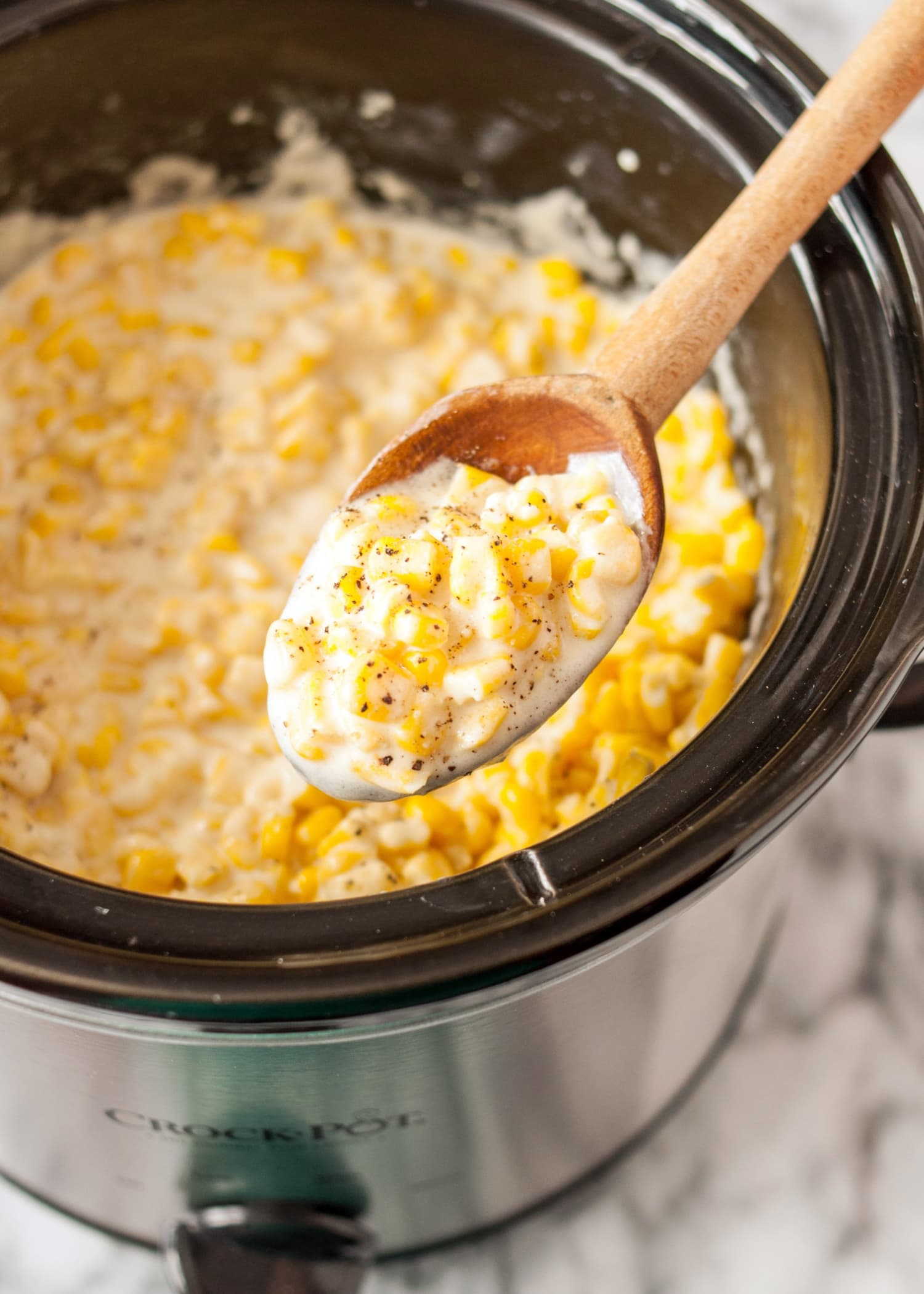 How To Make Slow Cooker Creamed Corn Recipe Kitchn