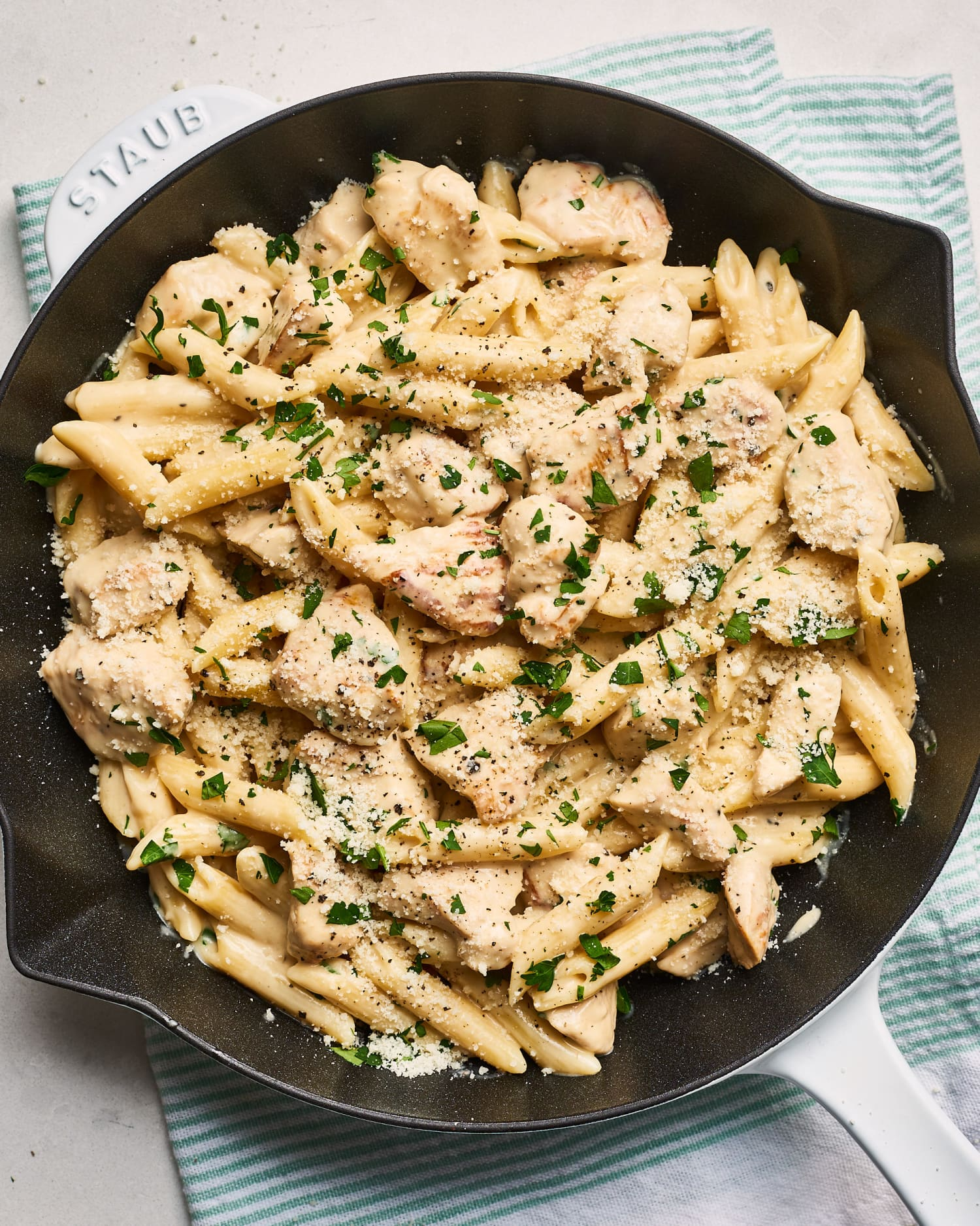 Recipe: One-Skillet Chicken Alfredo Pasta