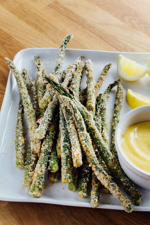 Crispy Parmesan Asparagus With Garlic Butter Cafe Delites