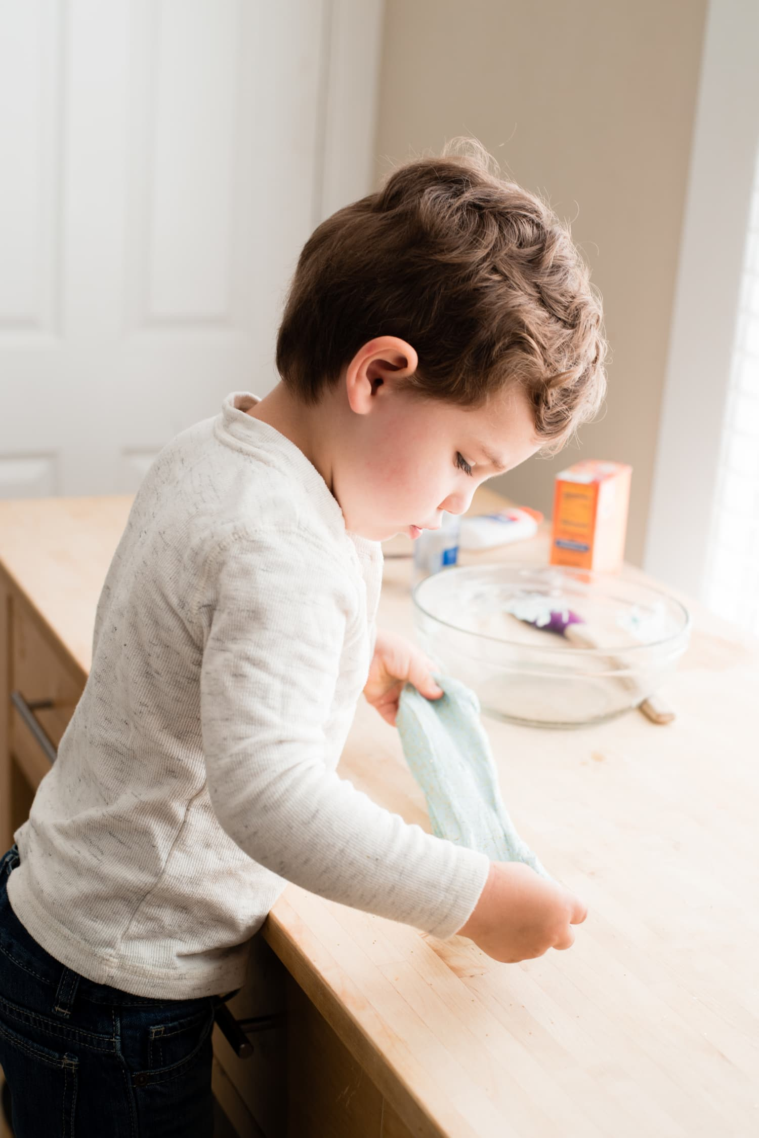 How To Make 3 Ingredient Slime Without Borax Kitchn