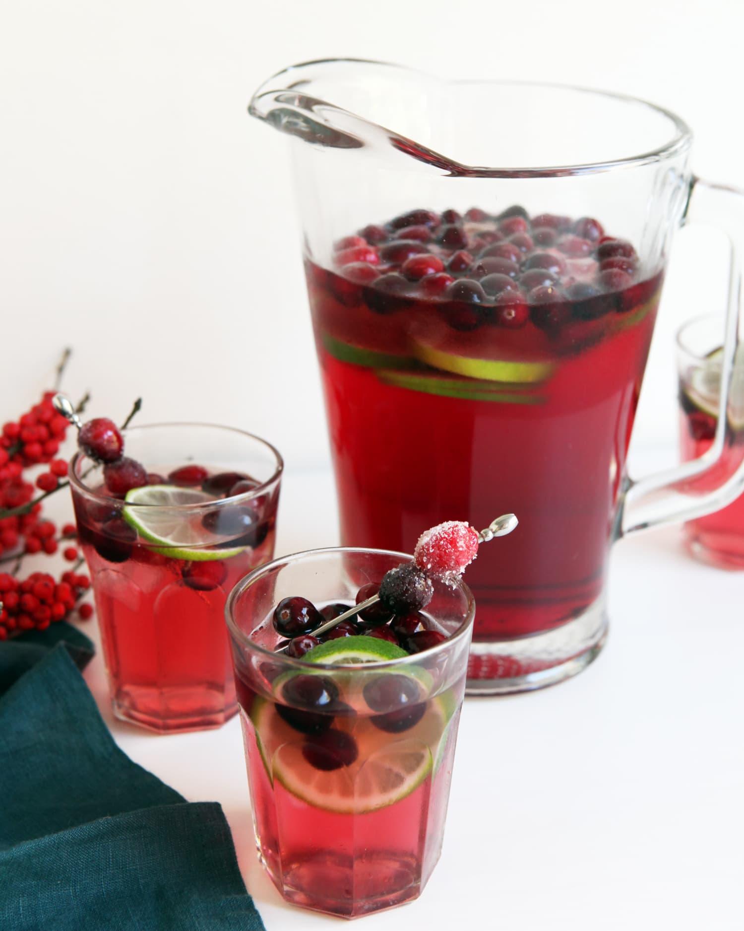 cranberry margarita recipe pitcher