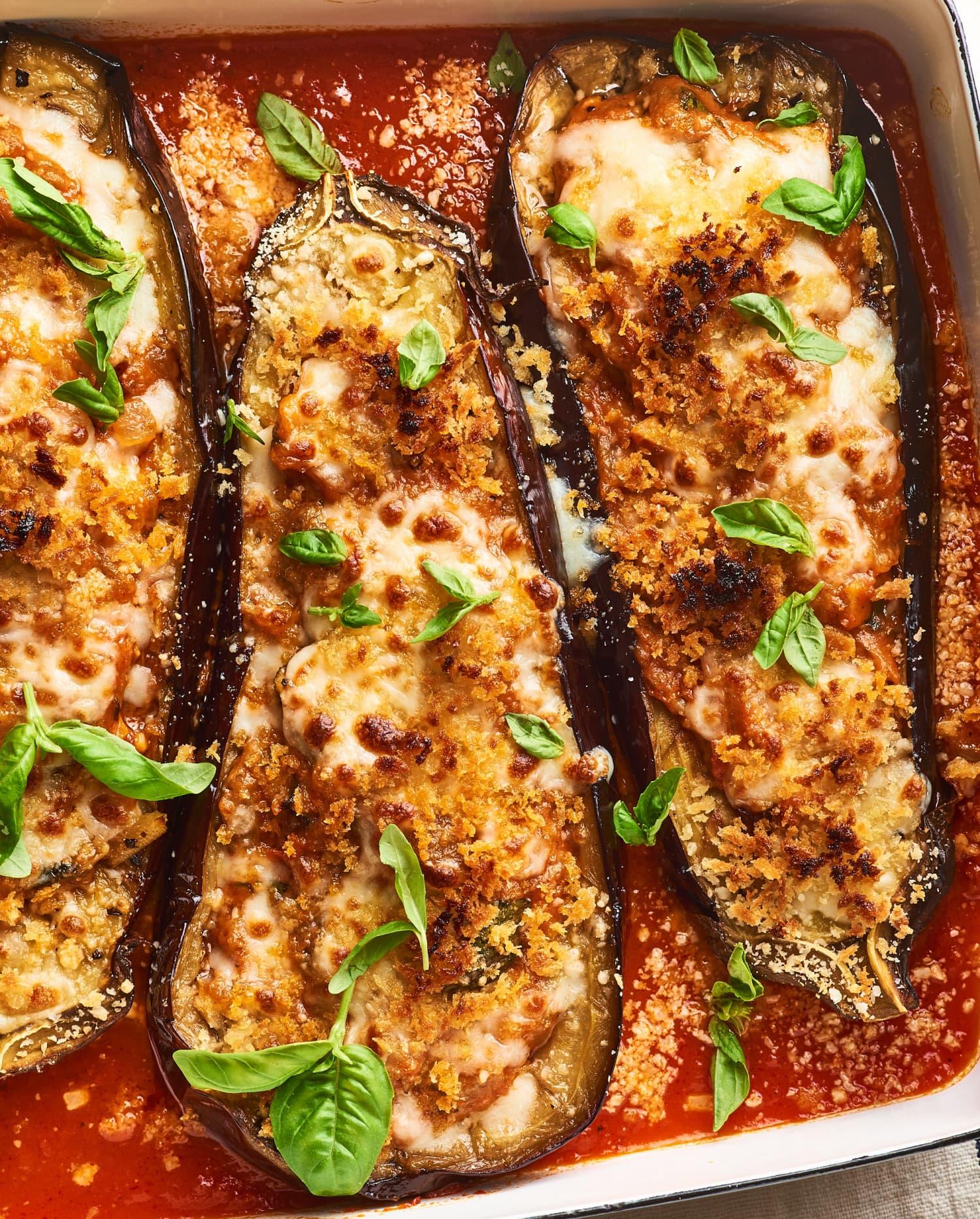 Easy Stuffed Eggplant Parmesan Recipe