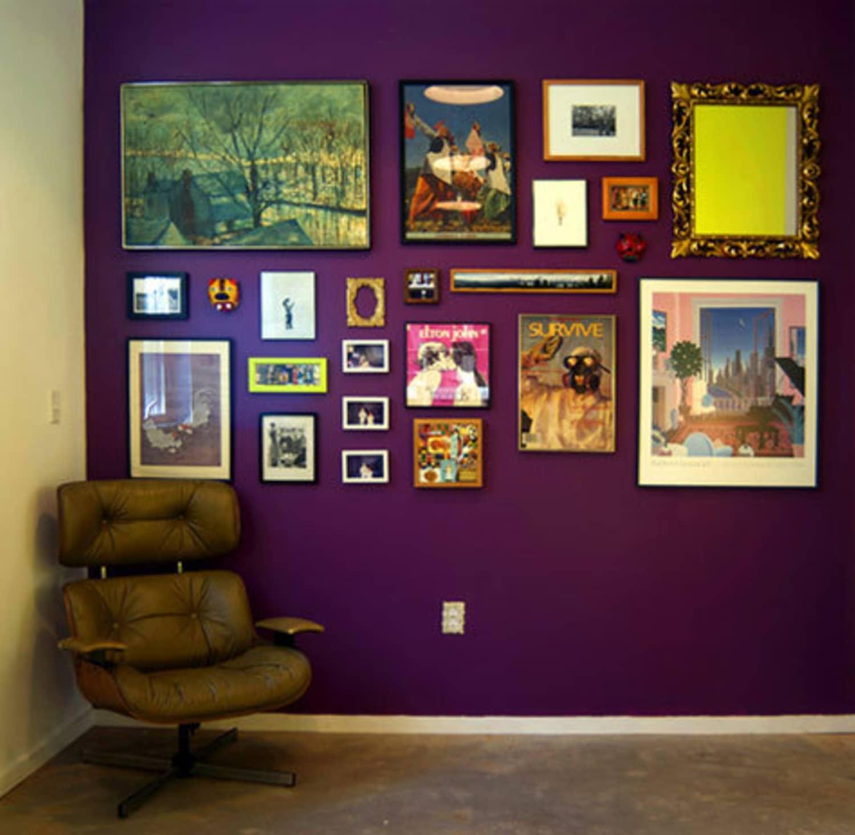 Mid Century Modern Los Angeles Apartment: Bold Color Inspirations: Velvet Rhapsodies