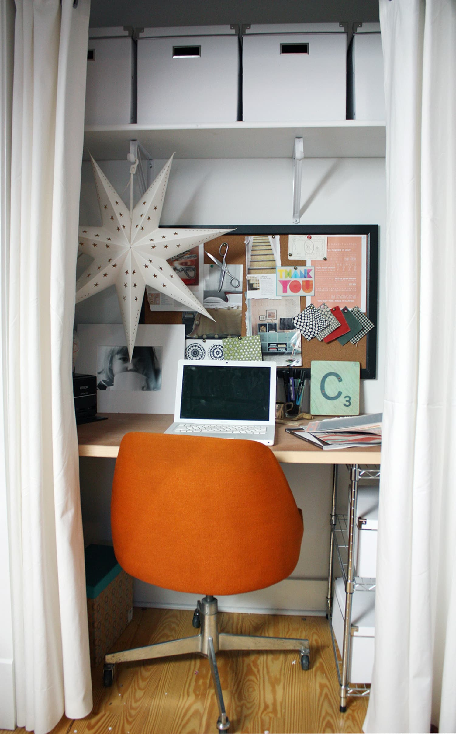 Courtney S Cozy Closet Office Apartment Therapy
