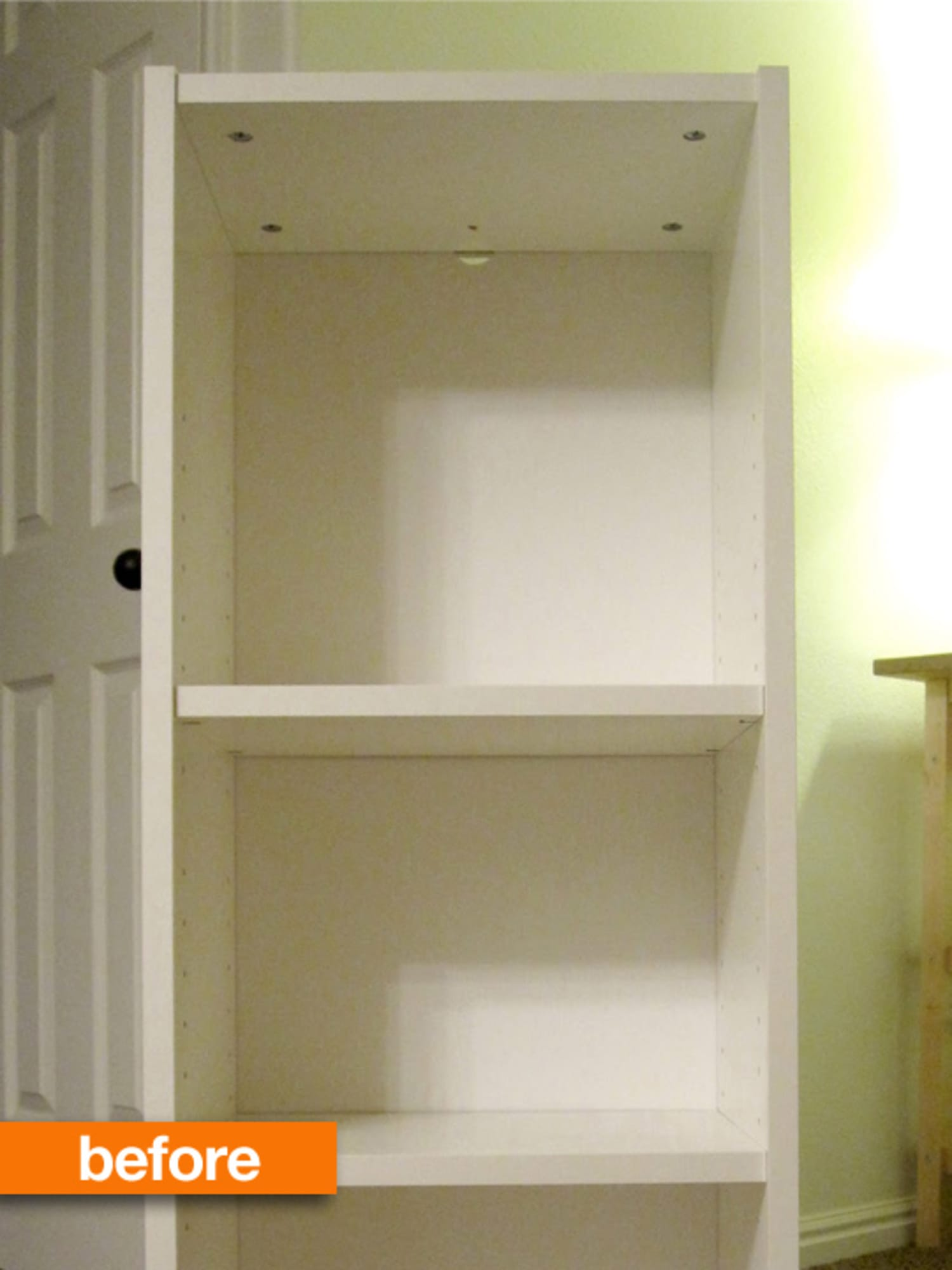 Before Amp After Boring Ikea Billy Bookshelf To Rad Reading