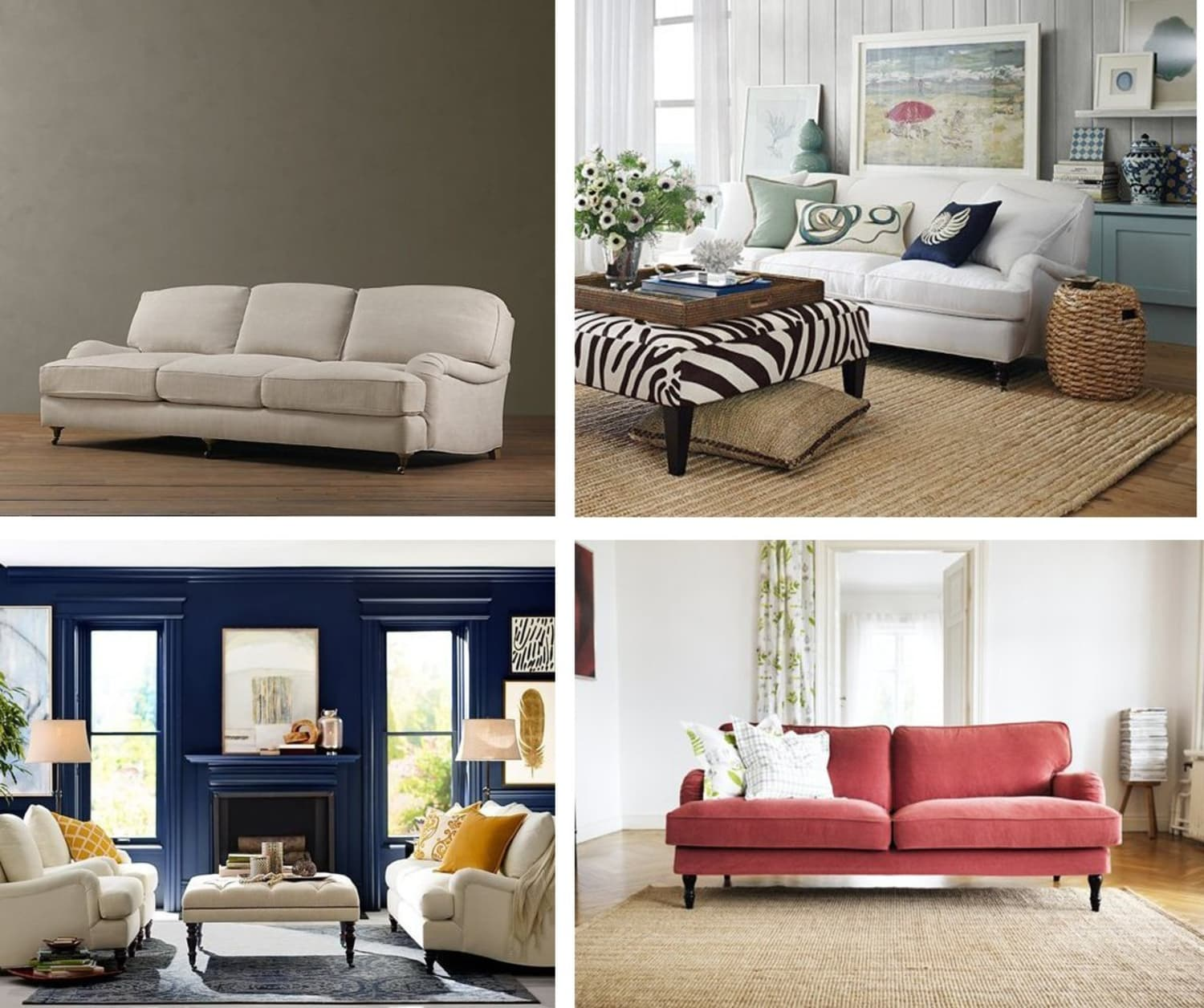 Comfy chic best english roll arm sofas apartment therapy - Best sectionals for apartments ...