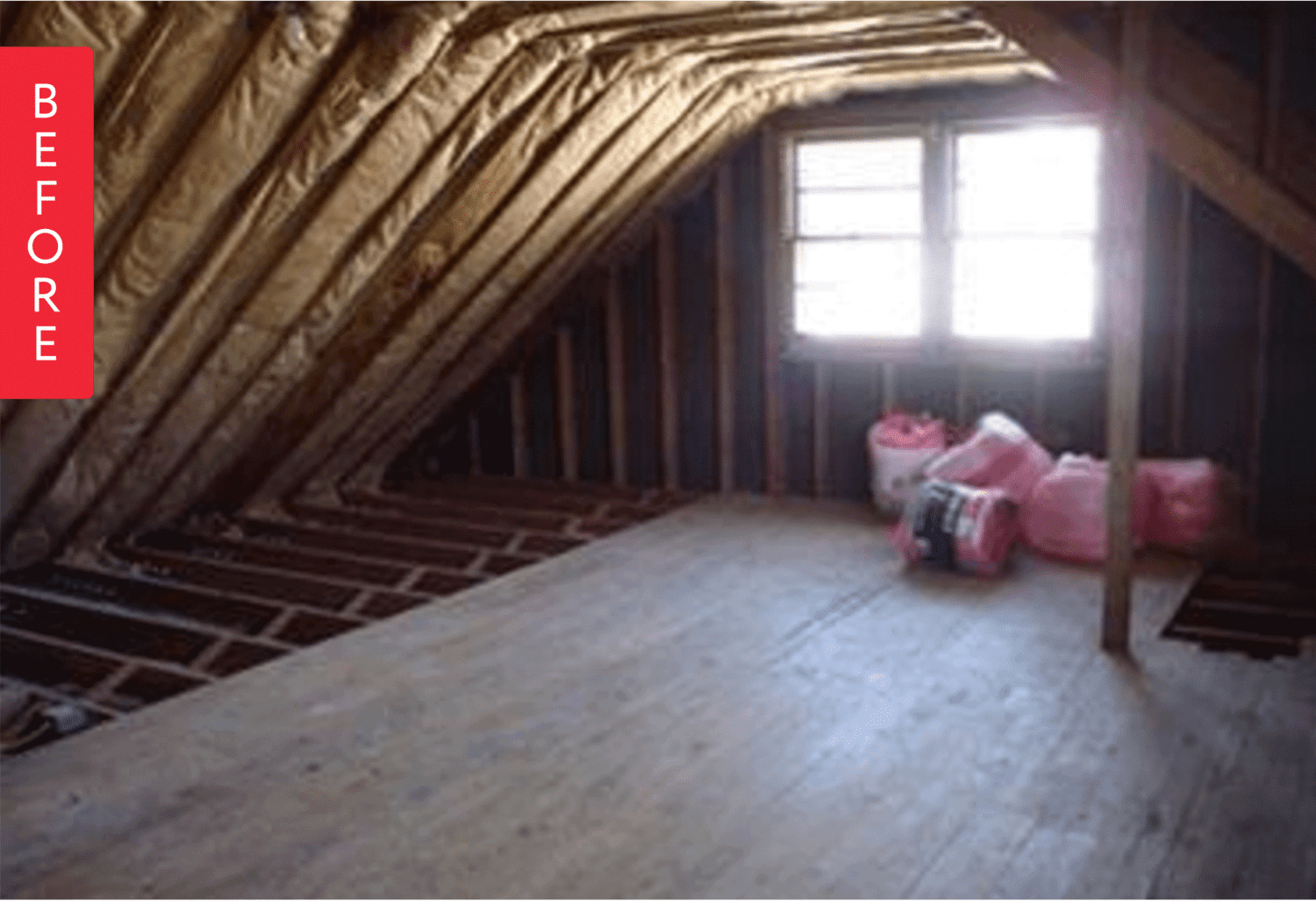 Before And After An Unfinished Attic Turned Modern Office