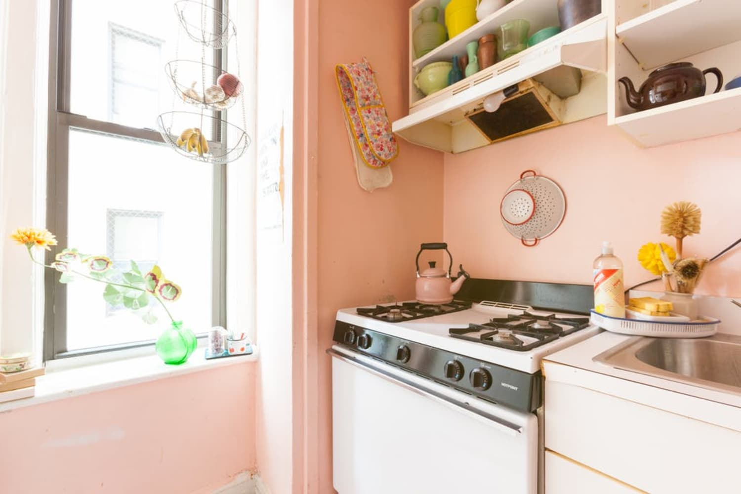 A Smart Rental Kitchen Style Solution: Remove Cabinet ...