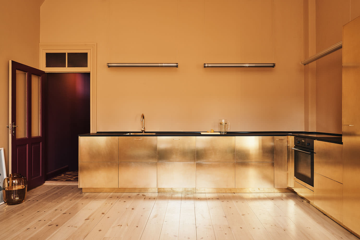 IKEA Kitchen Cabinets - Reform Brass Fronts   Apartment ...