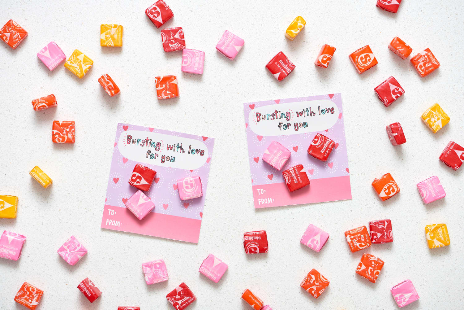 It's just an image of Inventive Starburst Valentine Printable