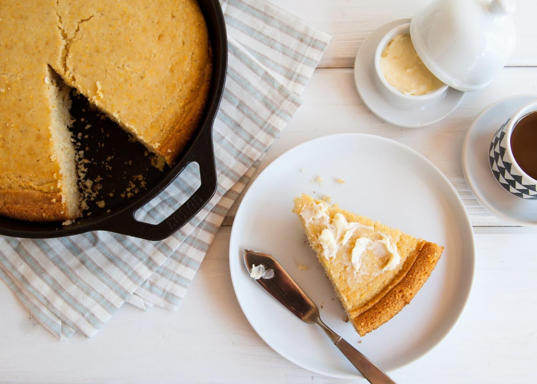 One Tip For Better Skillet Cornbread Kitchn
