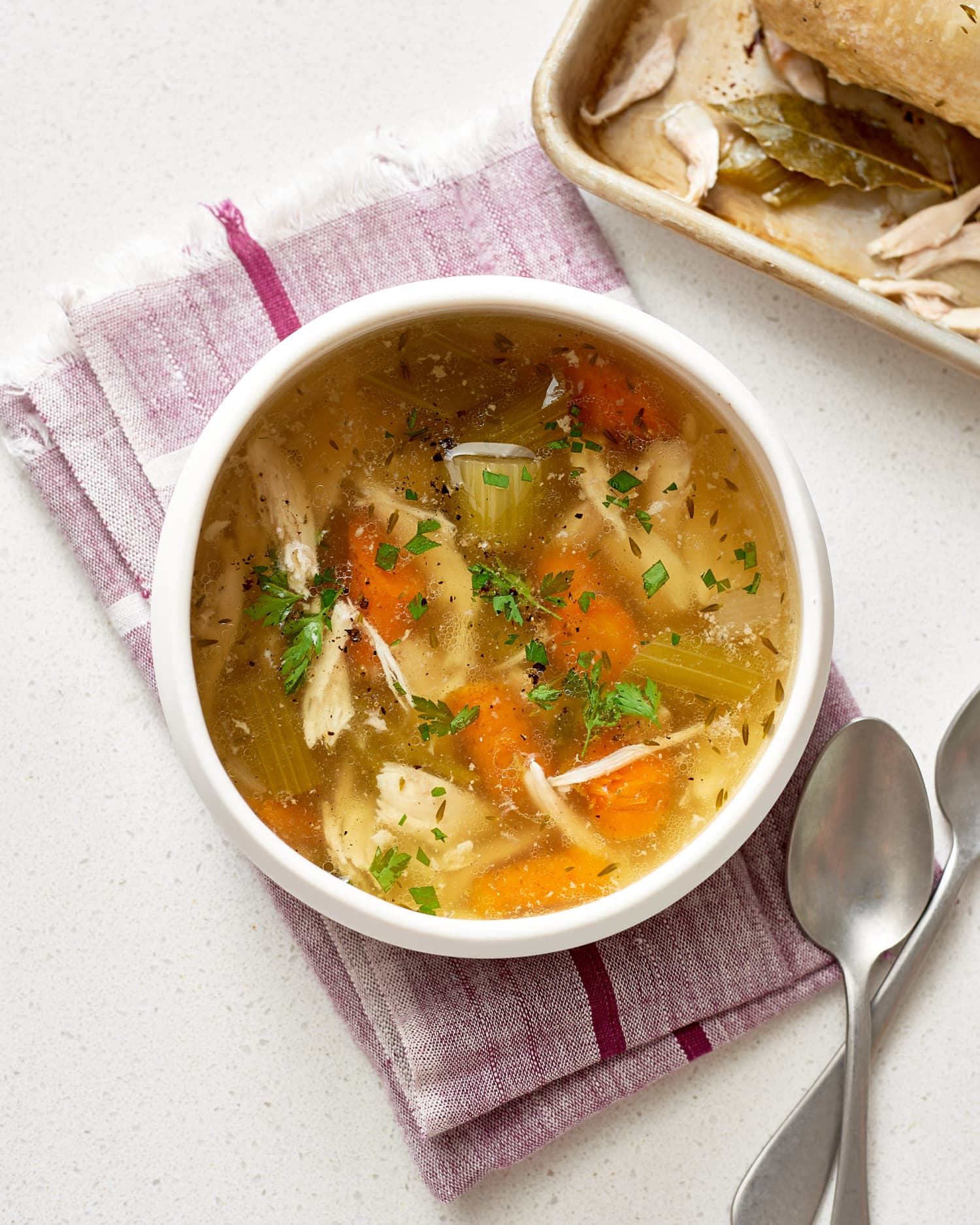 Recipe: Slow Cooker Whole Chicken Soup