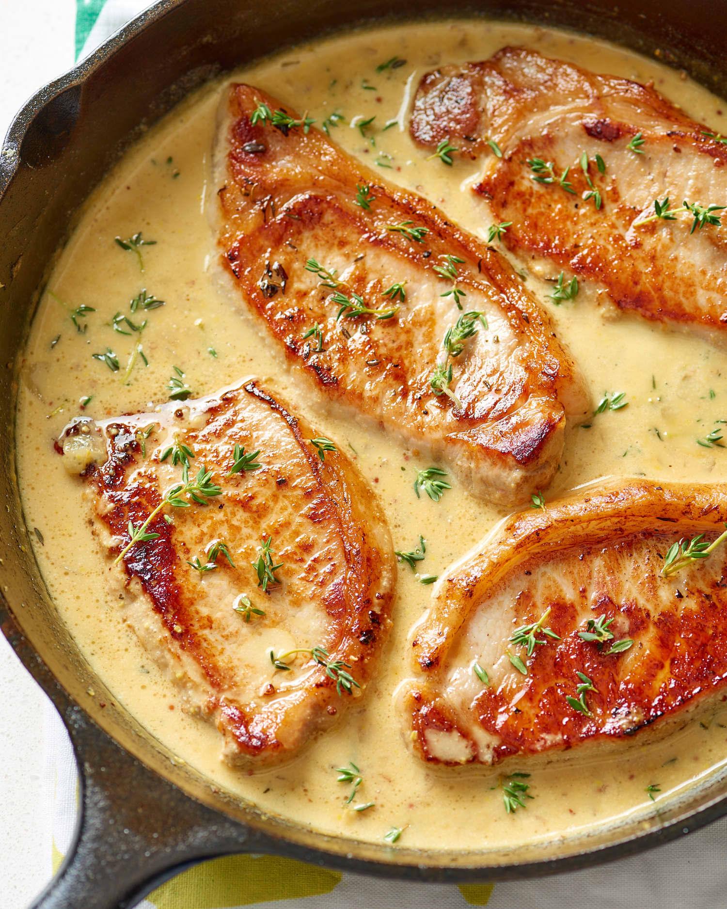 Easy Creamy Mustard Pork Chops Recipe