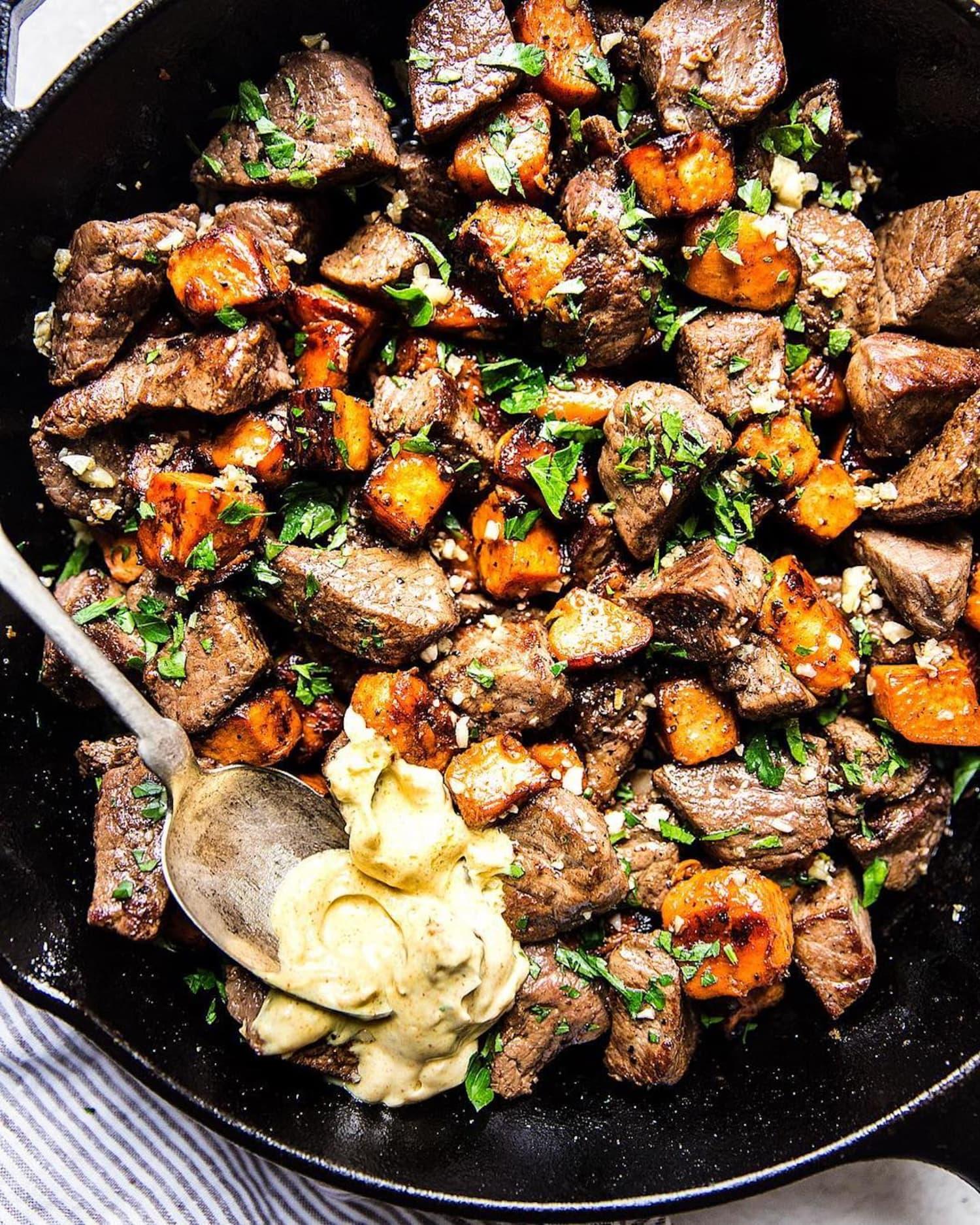 Steak Bites with Sweet Potatoes - The Modern Proper | Kitchn