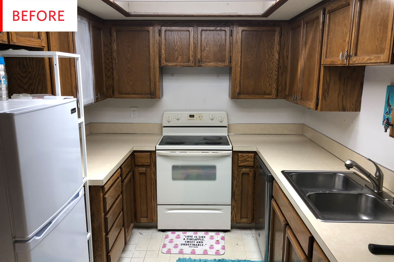 Before And After Kitchen Remodels On A Budget: Budget DIY Kitchen Remodel