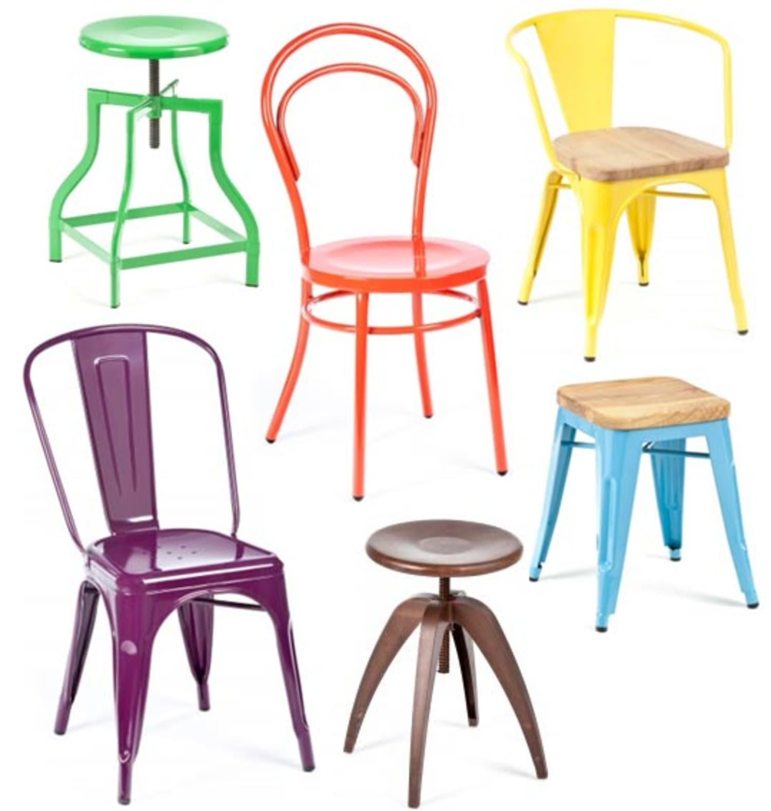 Colorful Dining Chair: Industry West: Colorful (and Totally Affordable!) Metal