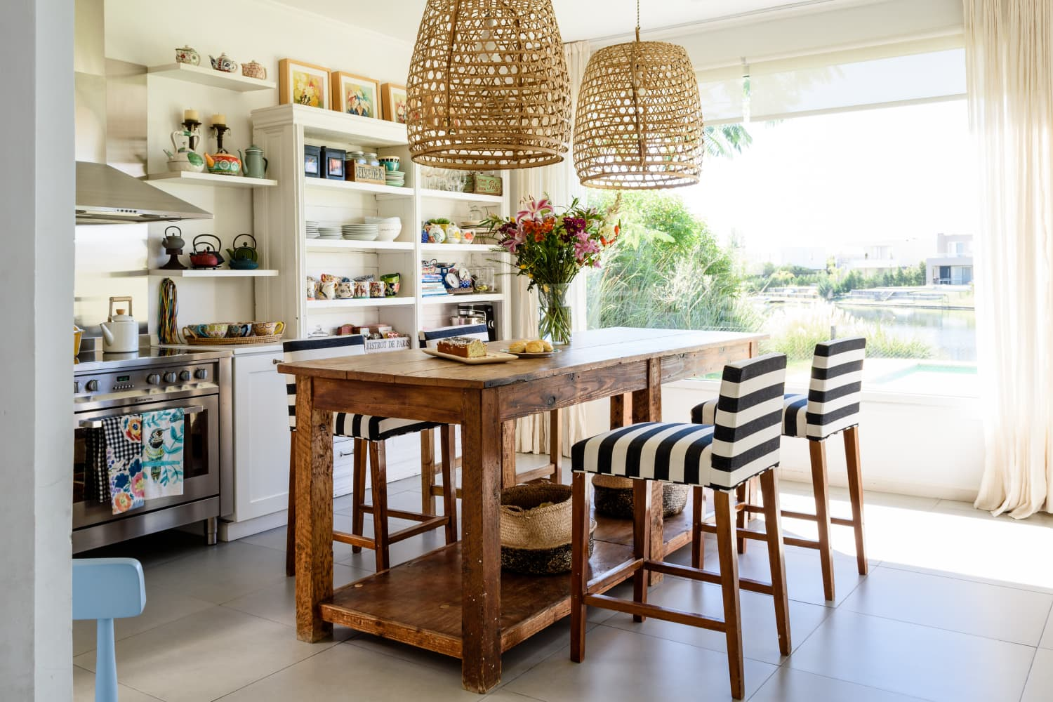 Rattan Pendants Aren't Going Anywhere — And We're Totally Cool with That