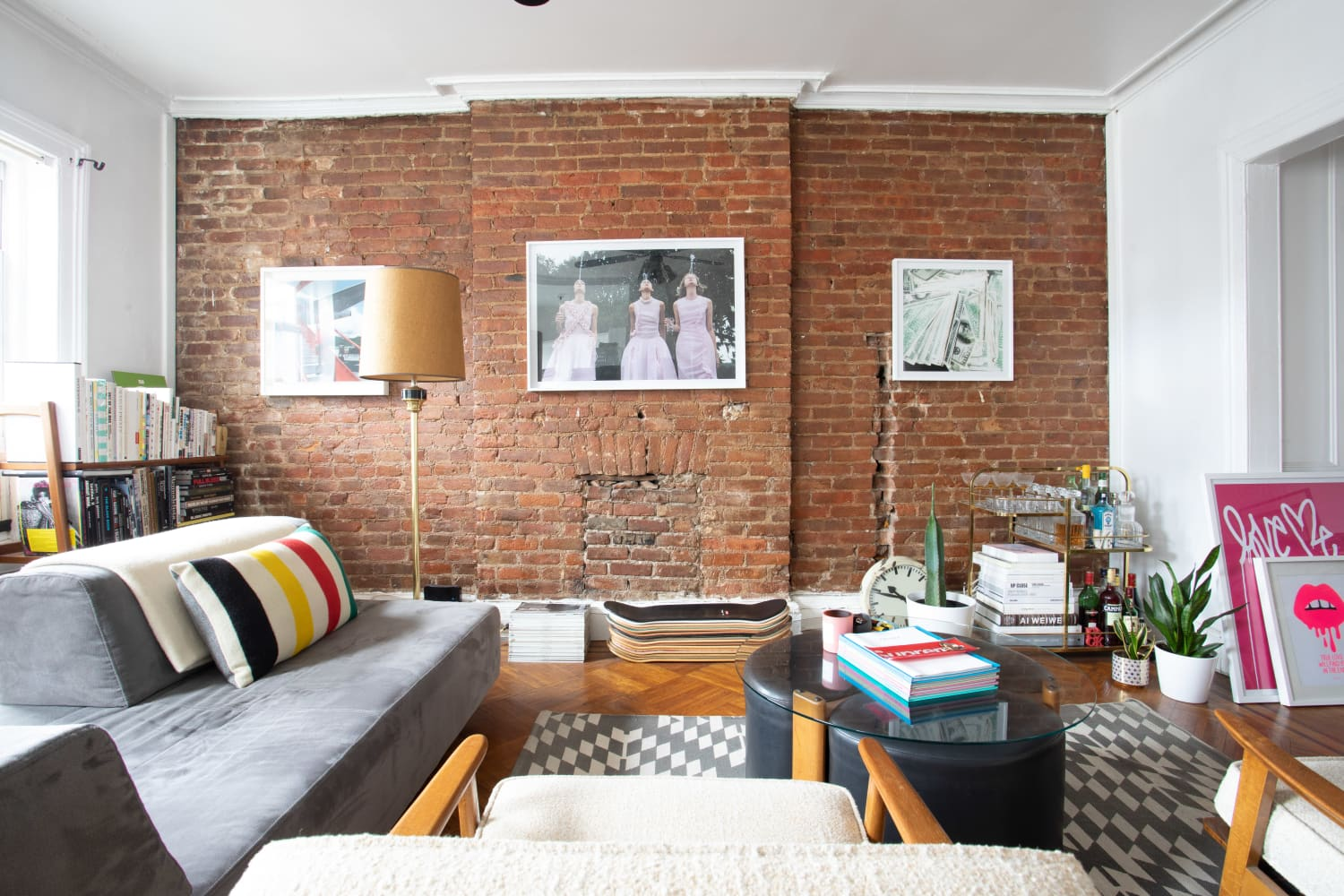 This Brooklyn Apartment Is for Fans of Fashion Photography (and Brick Walls)