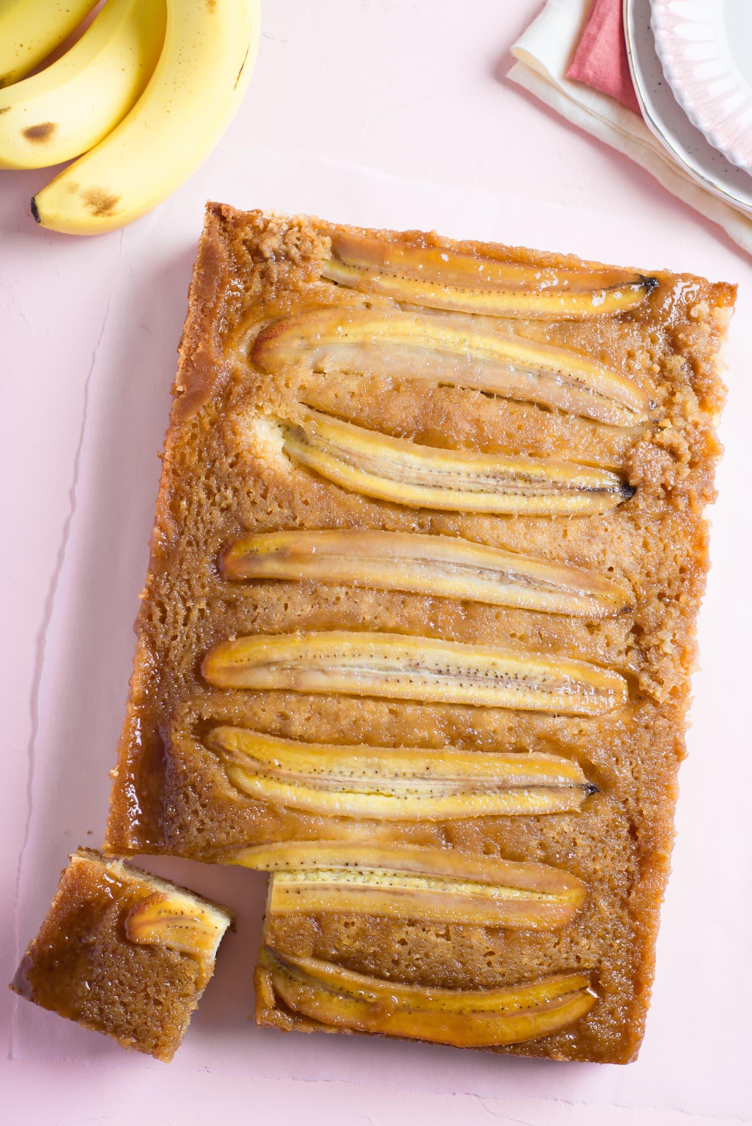 Recipe: One-Bowl Banana Upside-Down Cake