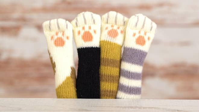 Your Floors Will Never Get Scratched Again With These Little Cat Paw Furniture Socks