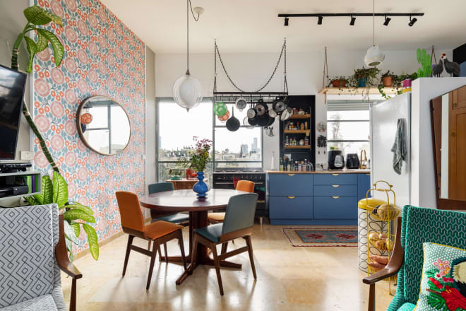 This Rental Apartment's Remodel Is Extremely Eclectic and Cool