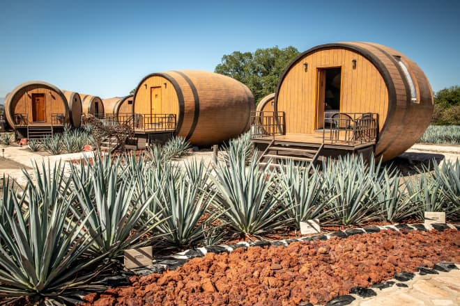 A Luxe Tequila Barrel Hotel Exists and It's Surrounded by Agave Fields