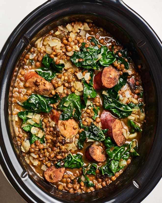 Recipe: Slow Cooker Sausage and Lentil Stew | Kitchn