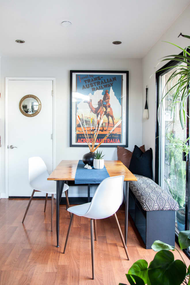 An IKEA Hack for Creating a Breakfast Nook, Even in the Smallest of Spaces