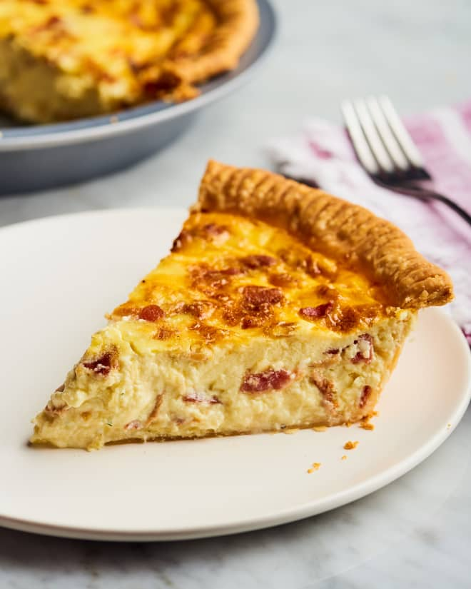 Recipe: Bacon and Cheese Breakfast Quiche