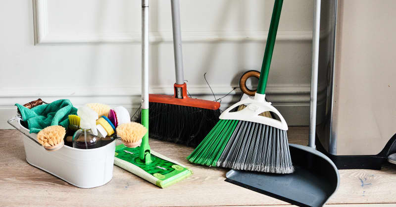 Try This Zip Tie Broom and Mop Storage Idea | Apartment Therapy