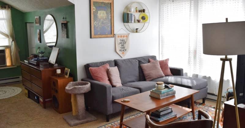 Studio Apartment Mid-Century Modern Vintage Inspiration
