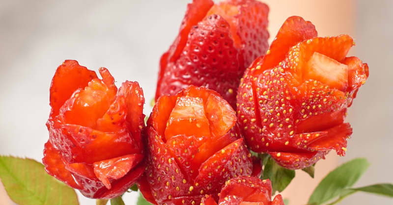 A Step By Step Tutorial For Strawberry Roses Kitchn