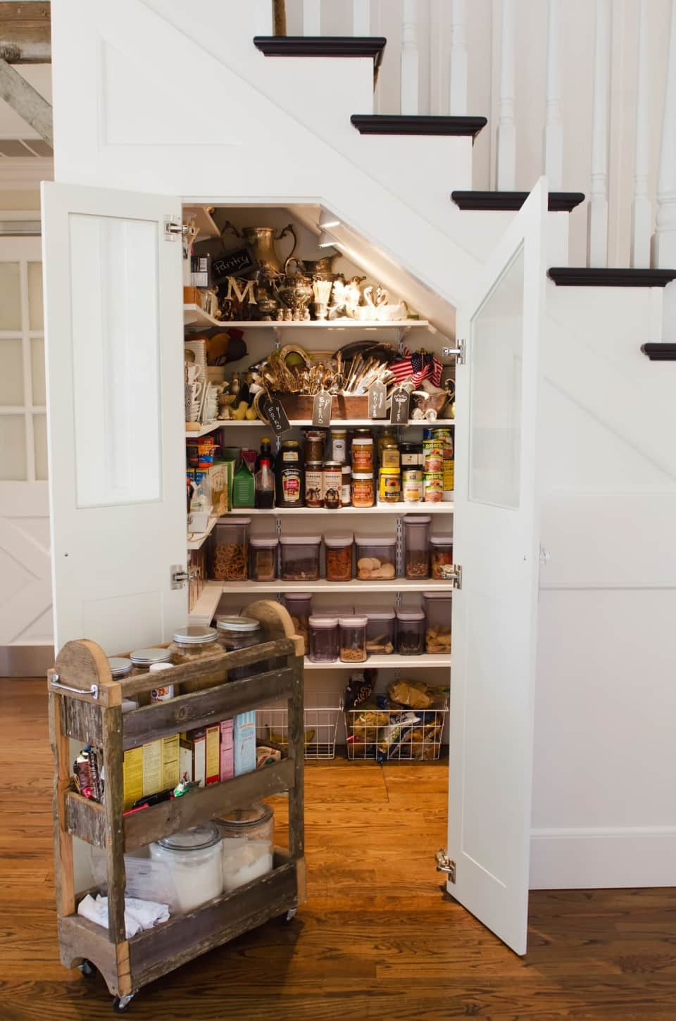 Under The Stairs Storage | Food Storage Ideas for Small Homes