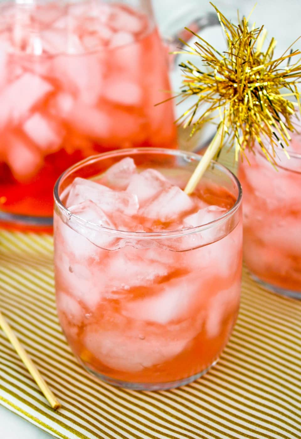 Cranberry And St. Germain Pitcher Sparkler | Elderflower Liqueur Recipes And Cocktails For Spring And Summer