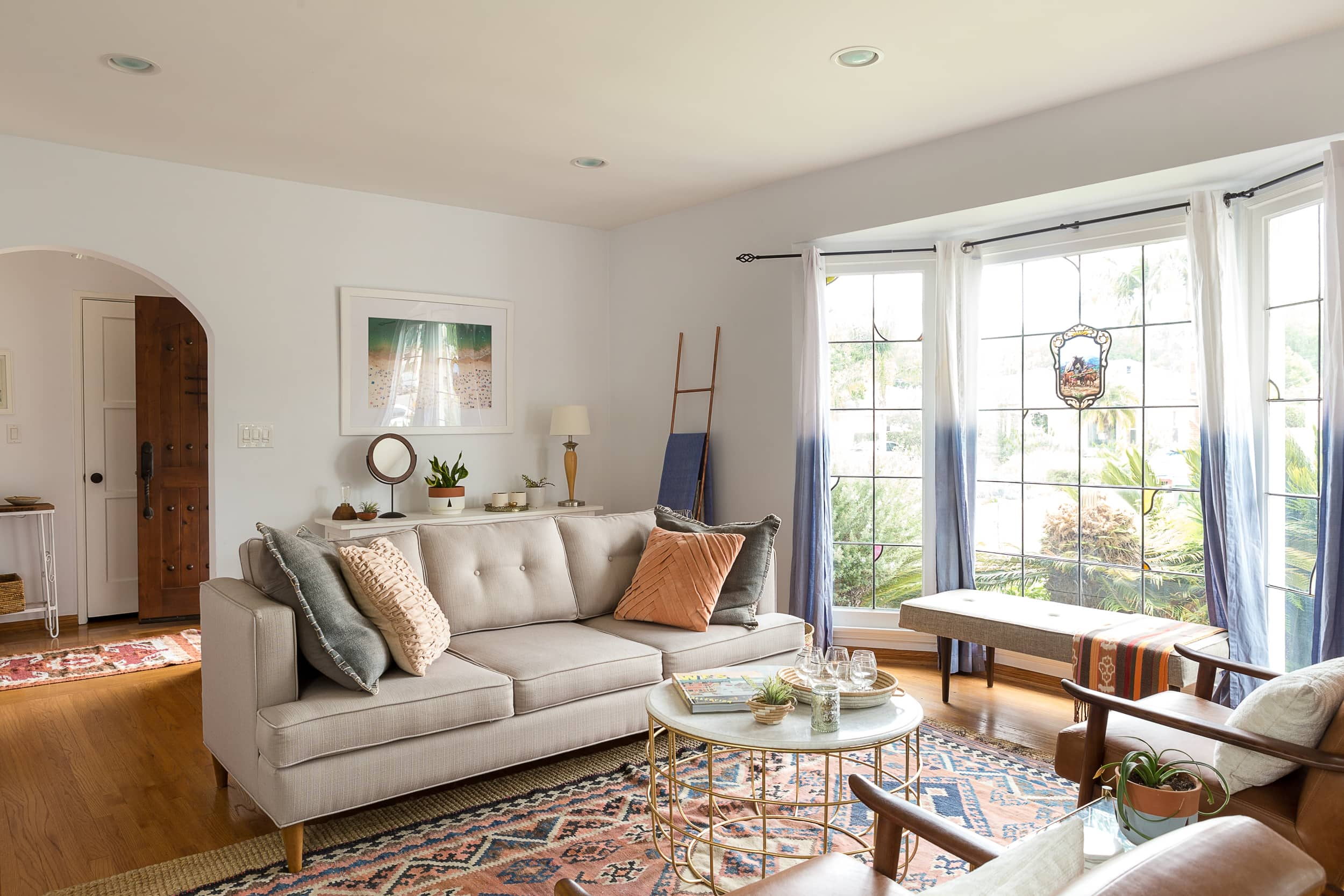 A Globally Inspired Spanish Colonial California Bungalow Apartment