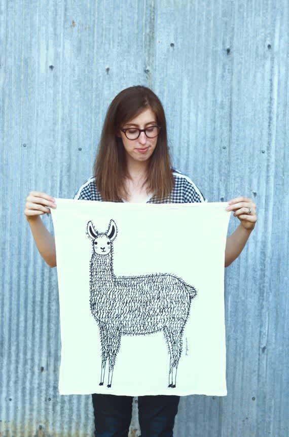 llama dishtowel