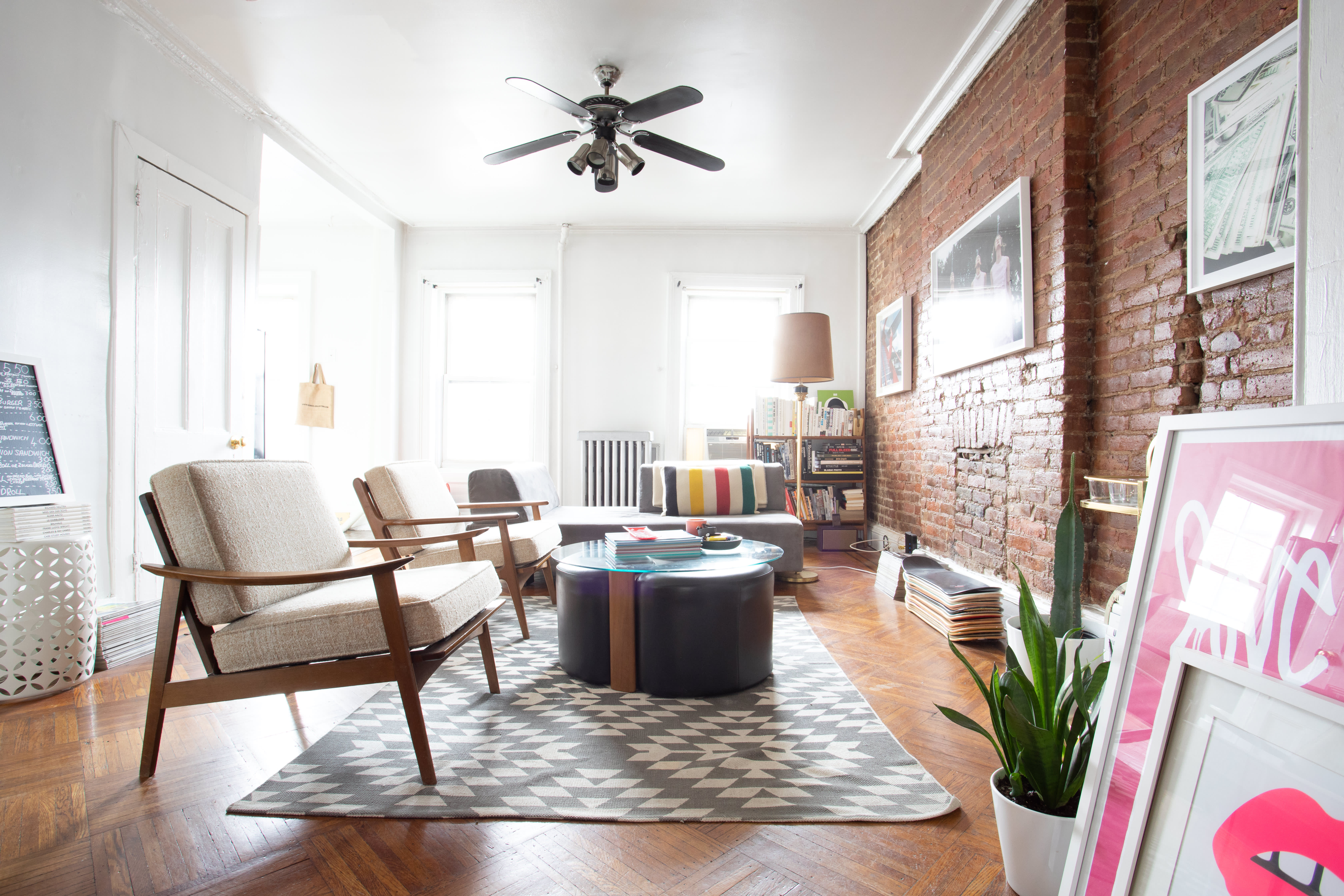 This Brooklyn Apartment Is for Fans of Fashion Photography (and Brick Walls): gallery image 3