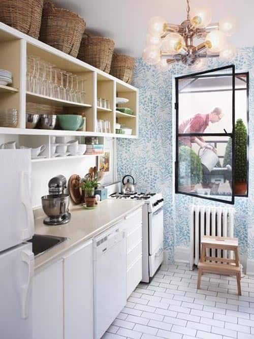 Small Kitchen Storage Put Baskets Above The Cabinets Kitchn