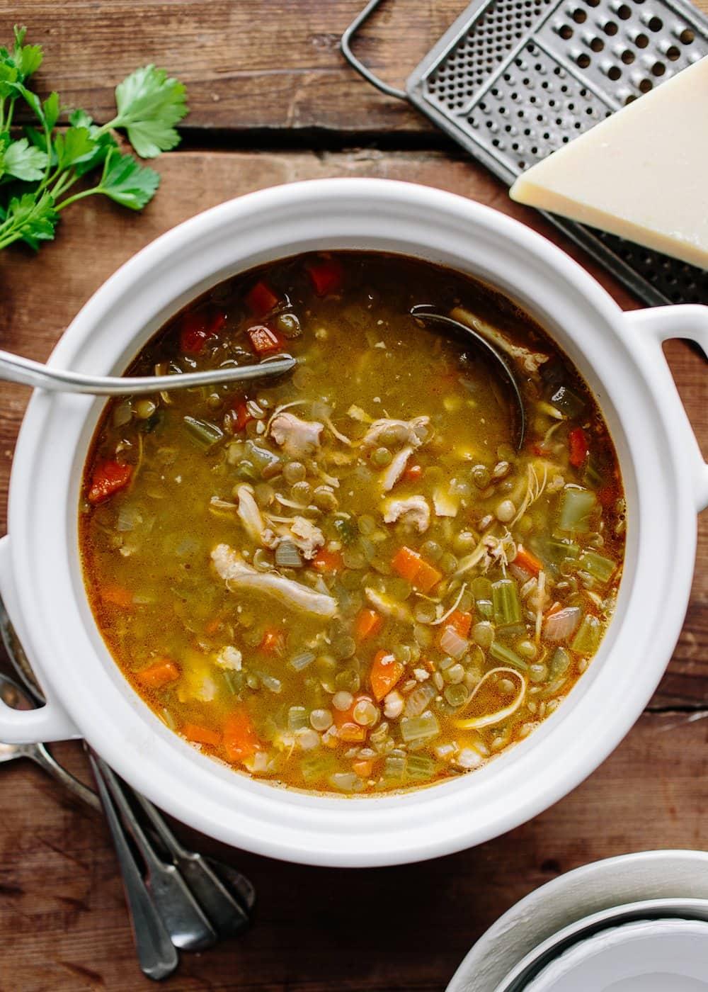 Recipe Chicken Lentil Soup Kitchn