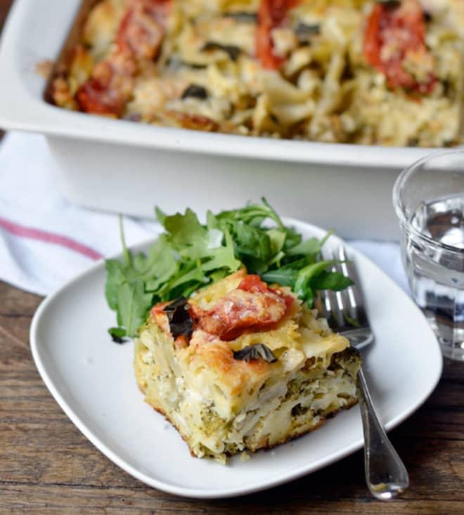 15 Make Ahead Freezer Meals | Tomato Broccoli Mozzarella Pasta Casserole | Beanstalk Mums