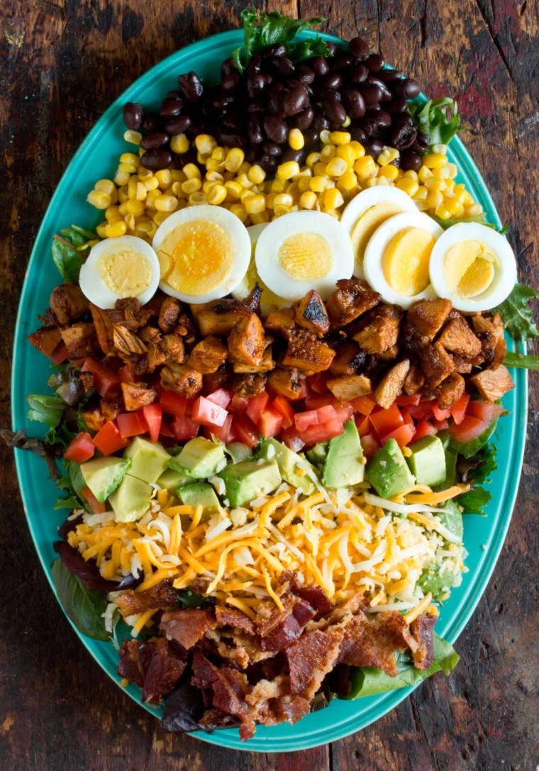 BBQ Chicken Cobb Salad   Homemade Recipes http://homemaderecipes.com/bbq-grill/19-memorial-day-recipes