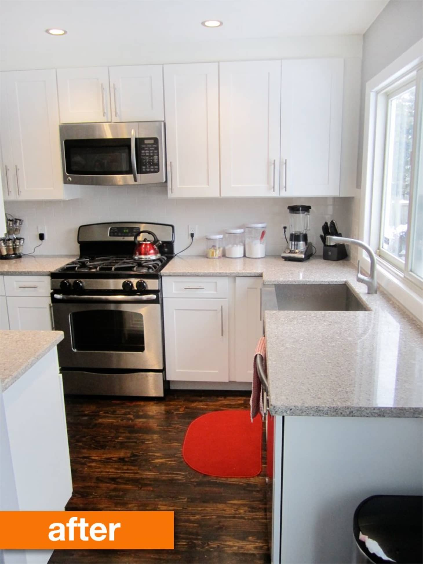 Before After Krista S Budget Friendly Modernized Kitchen