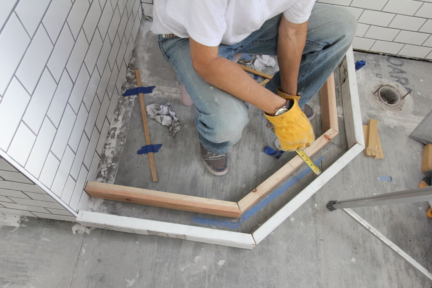 How To Build A Custom Shower Pan.How To Build A Shower Pan Apartment Therapy