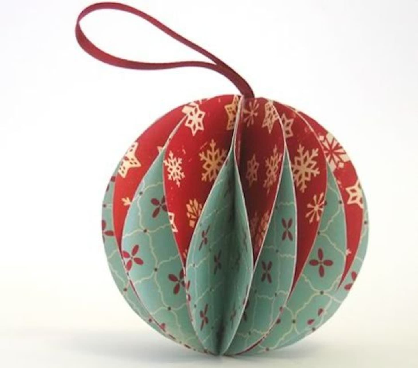 Origami Santa Ornament: Origami Christmas Ornaments
