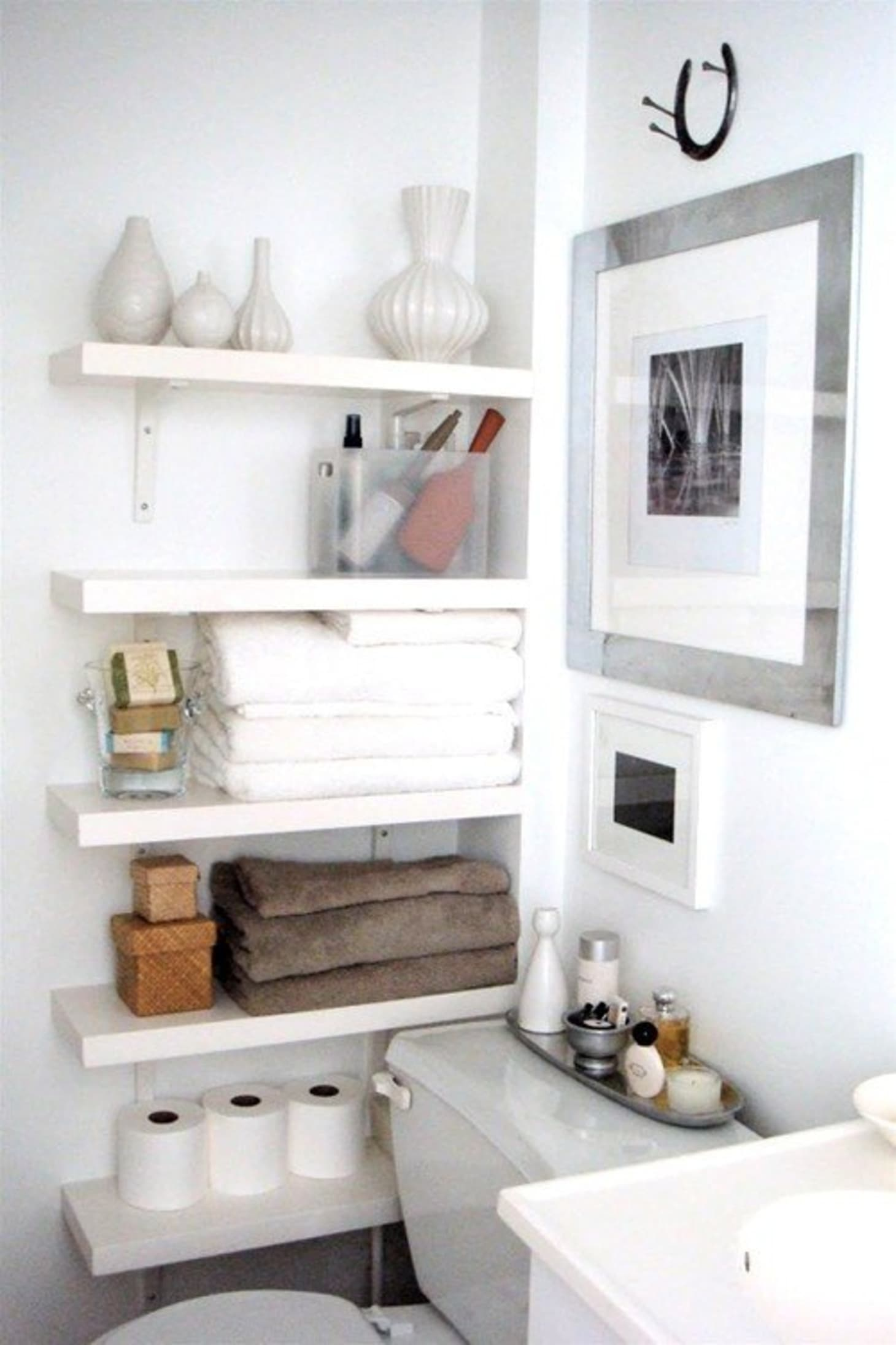 7 Small Bathroom Remodel Ideas - Renovation Pictures of ... on Small Apartment Bathroom Storage Ideas  id=17118