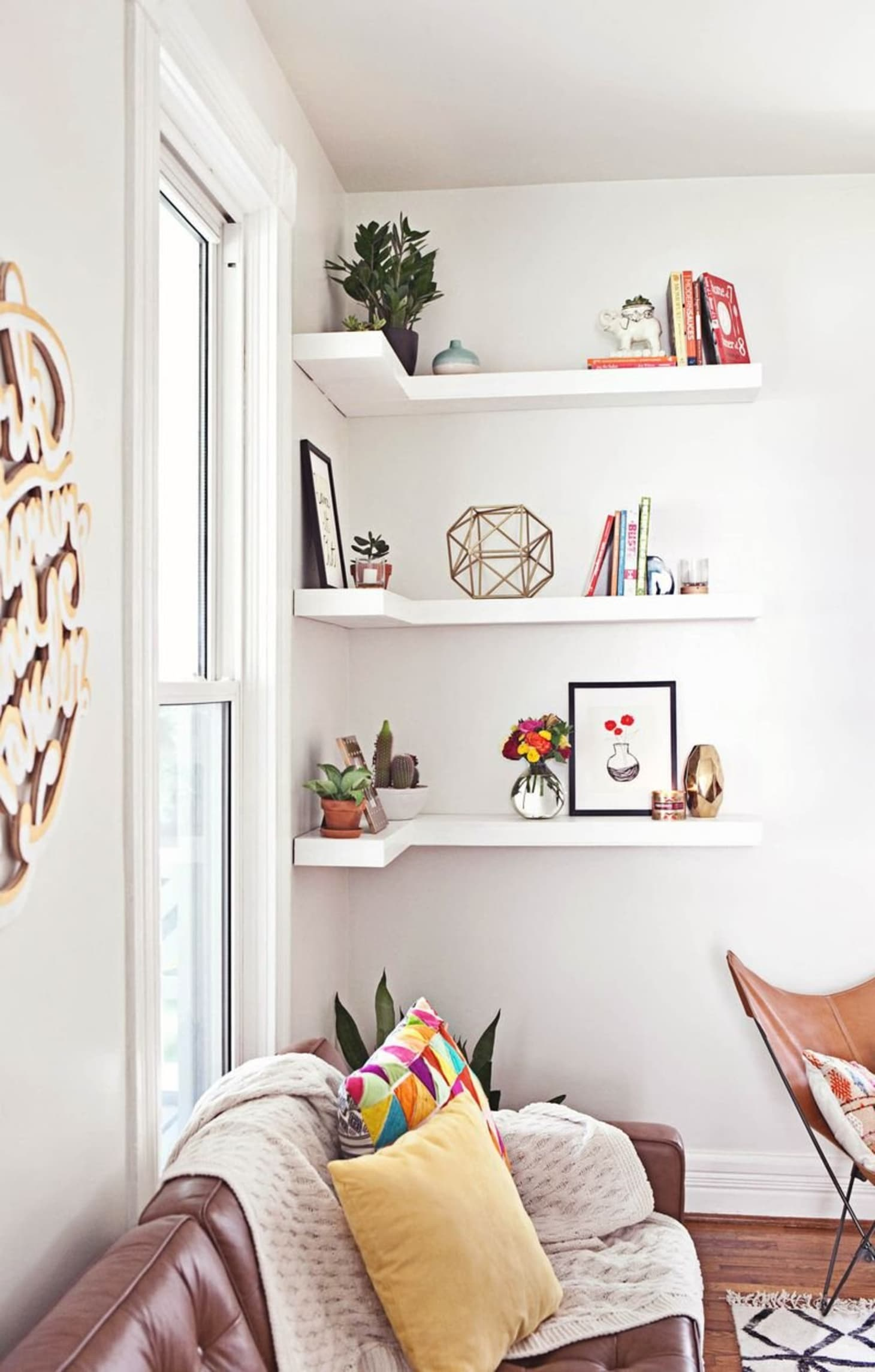 Corner Shelves: A Smart Small Space Solution All Over the ...