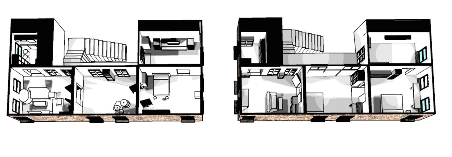 A Perspective on Two Railroad Apartments: The A Line ... on somerset house floor plan, holiday house floor plan, rock shadows house floor plan, one house floor plan, river house floor plan, industrial house floor plan, lancaster house floor plan, california house floor plan, liberty house floor plan, telephone house floor plan, bridge house floor plan, railroad house foundation,