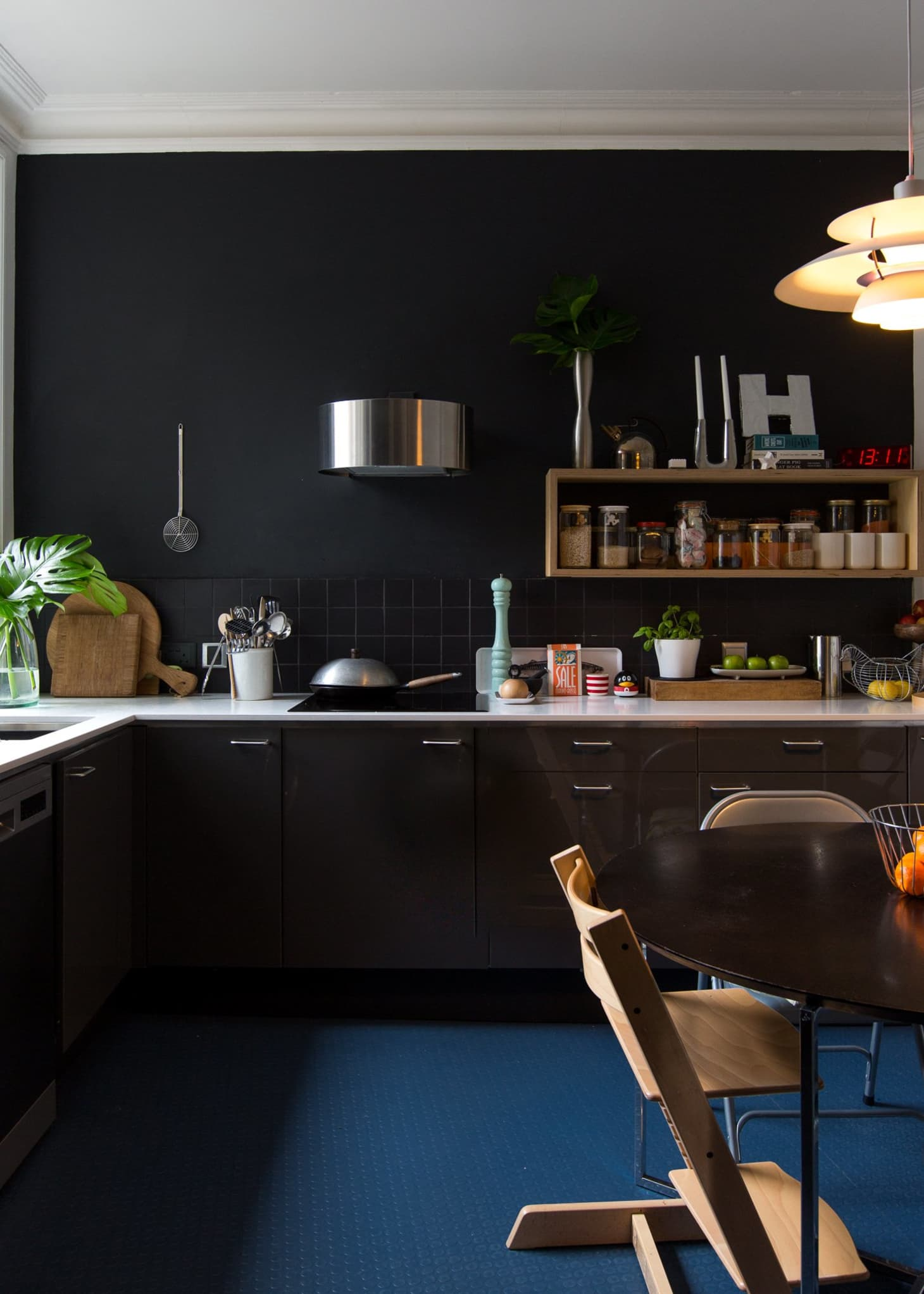 dark kitchen cabinets with grey walls outofhome ideas ...