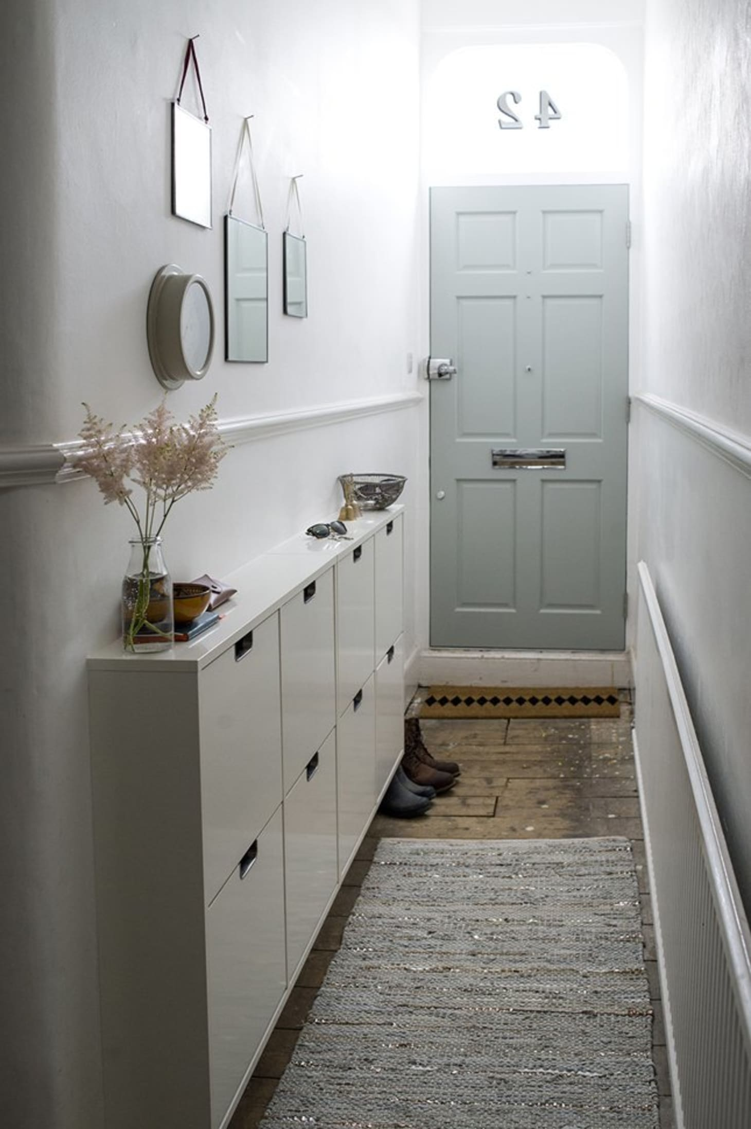 Hallway Storage Projects For Narrow Small Spaces