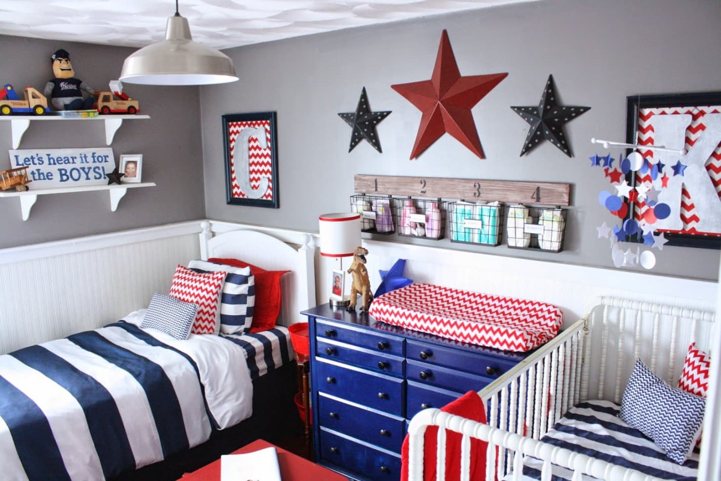 A Red, White & Blue Boys Room | Apartment Therapy